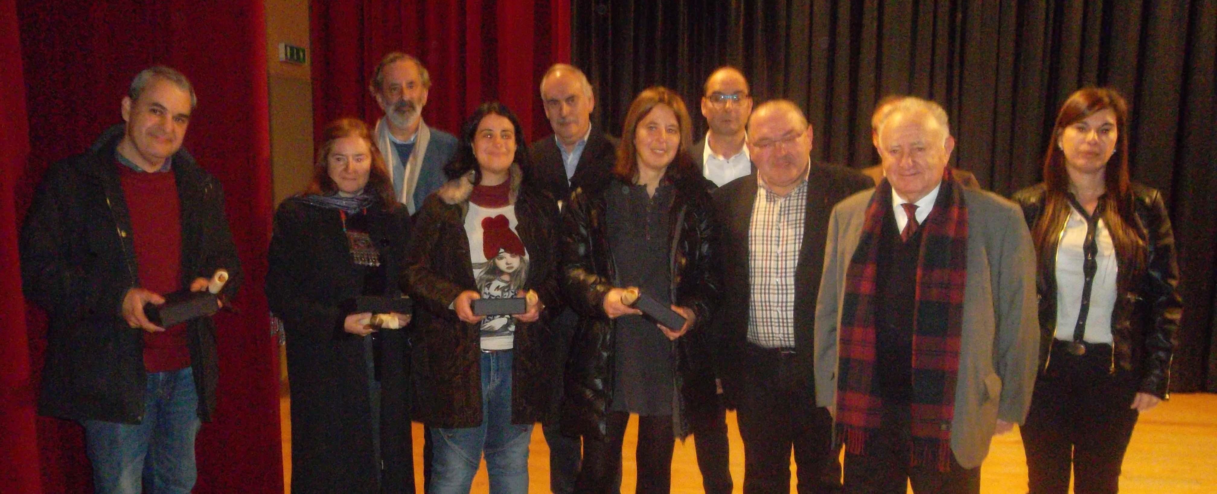 Premiados e xurado no Centro Cultural de Monterroso