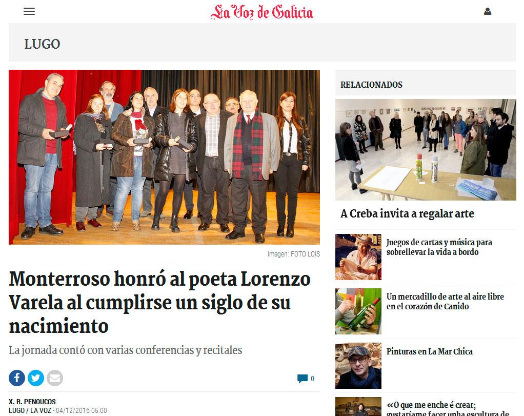 Nova en La Voz de Galicia