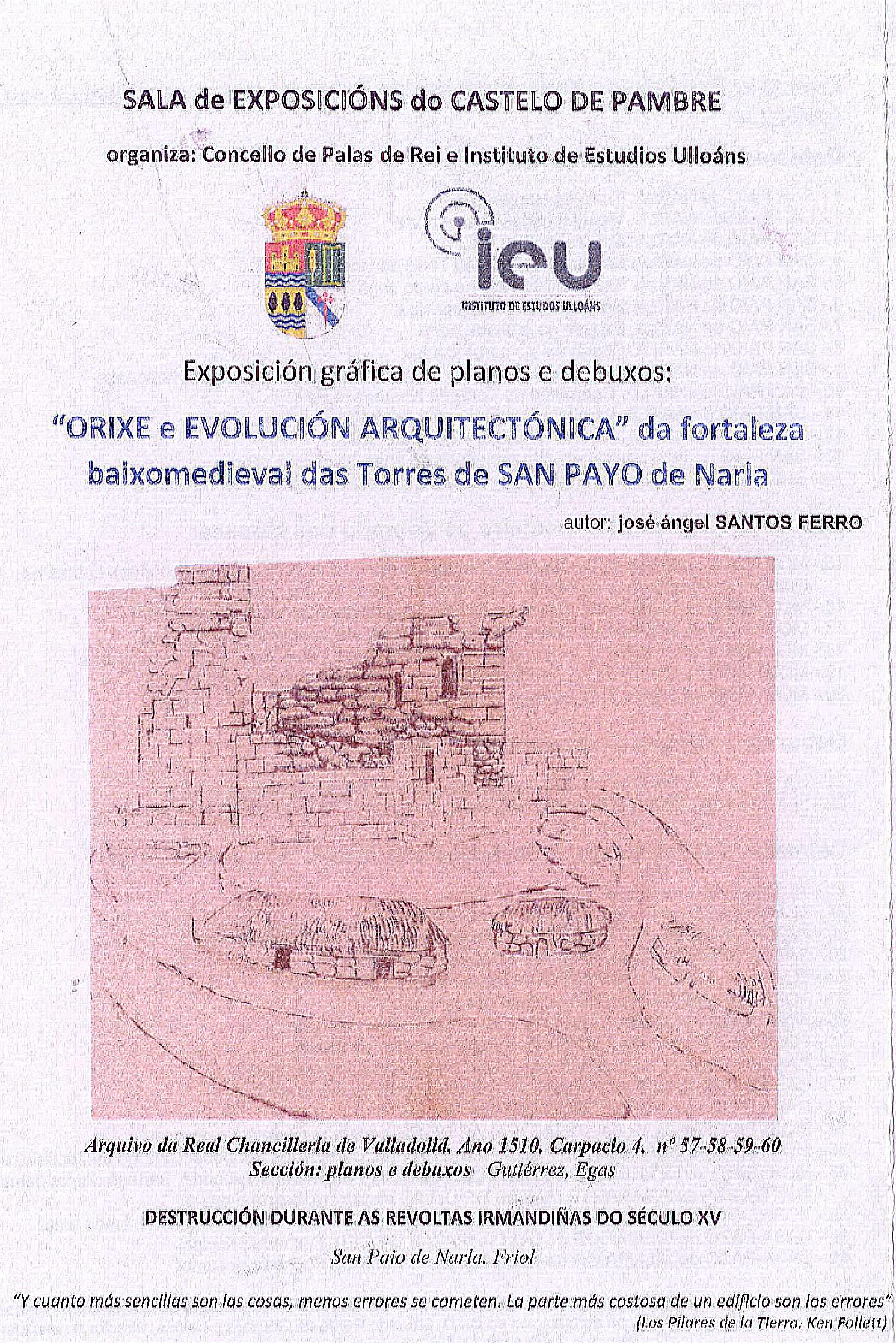 Orixe e evolucion San Paio de Narla, castelo de Pambre, Instituto de Estudos Ulloáns