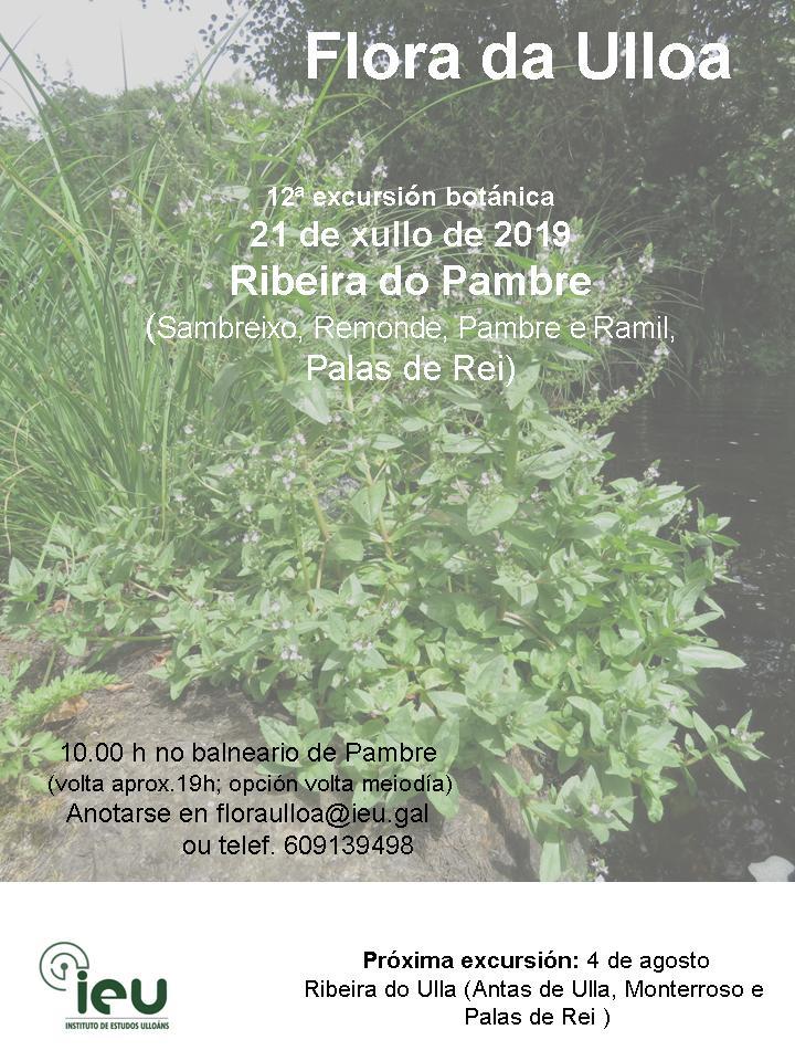 12ªExcursión Ribeira Pambre, Instituto de Estudos Ulloáns,Proxecto Flora da Ulloa
