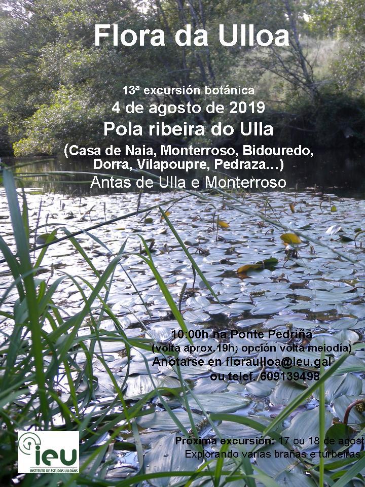 13 excursión Ribeira do Ulla, Instituto de Estudos Ulloáns, Proxecto Flora da Ulloa