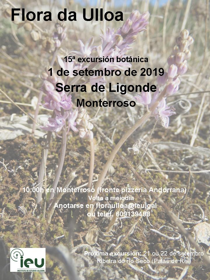 15ª Excursión Botánica Flora da Ulloa, serra de Ligonde, Instituto de Estudos UlloánsLigonde