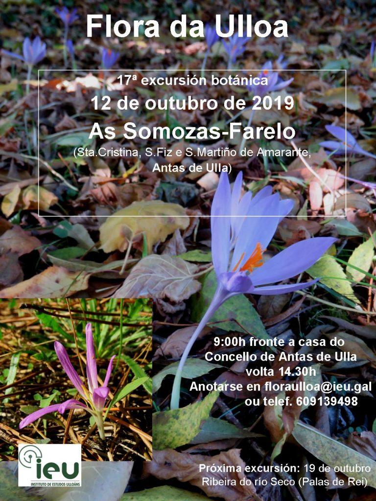17ª excursión Farelo, Instituto de Estudos Ulloáns IEU, Proxecto Flora da Ulloa