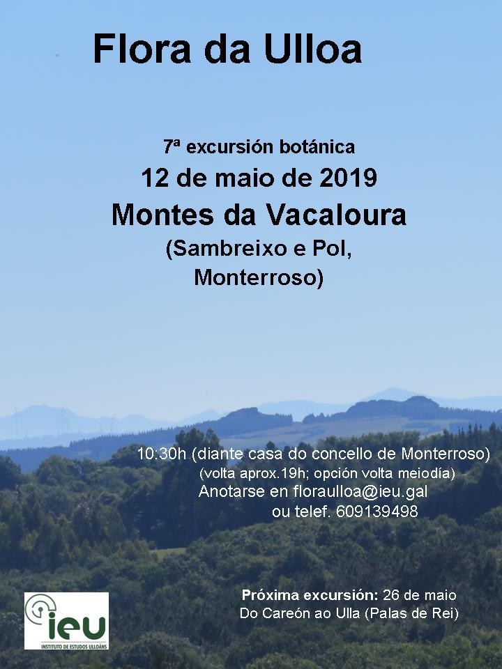 7ªexcur.botanica Vacaloura, Flora da Ulloa, Instituto de Estudos Ulloáns