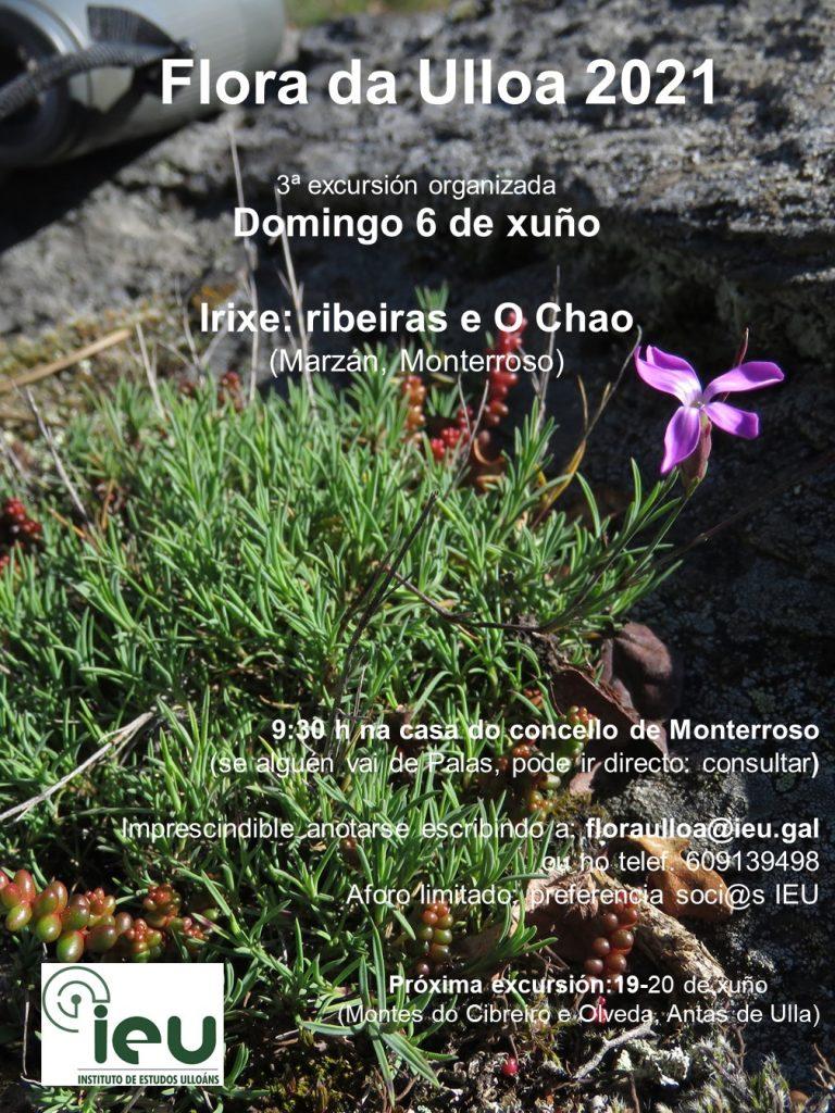 Excursión Flora da Ulloa 3-21, Irixe, Instituto de Estudos Ulloáns