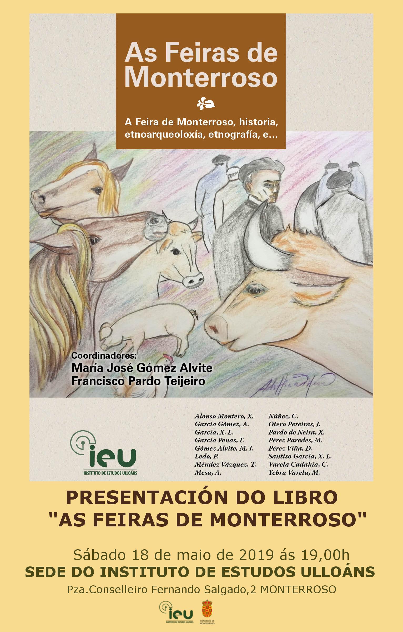 17 maio 2019 Día das letras Galegas, Presentación libro As Feiras de Monterroso, Instituto de Estudos Ulloáns, Concello de Monterroso, Deputación de Lugo, IEU