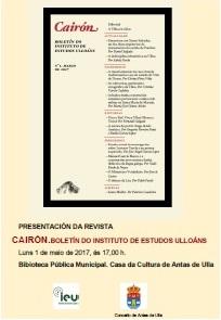 Presentación de Cairón nº 1. Boletín do Instituto de Estudos Ulloáns. en Antas de Ulla.