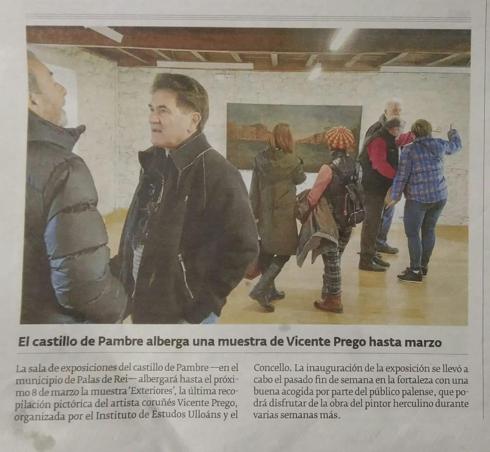 Exposición Vicente Prego no castelo de Pambre, Instituto de Estudos Ulloáns