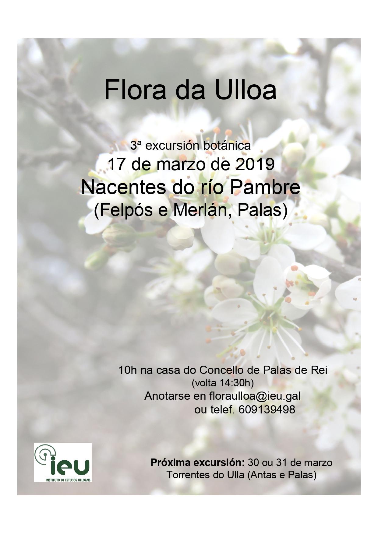 3ª Excursión Proxecto Flora Ulloa, Instituto Estudos Ulloánas