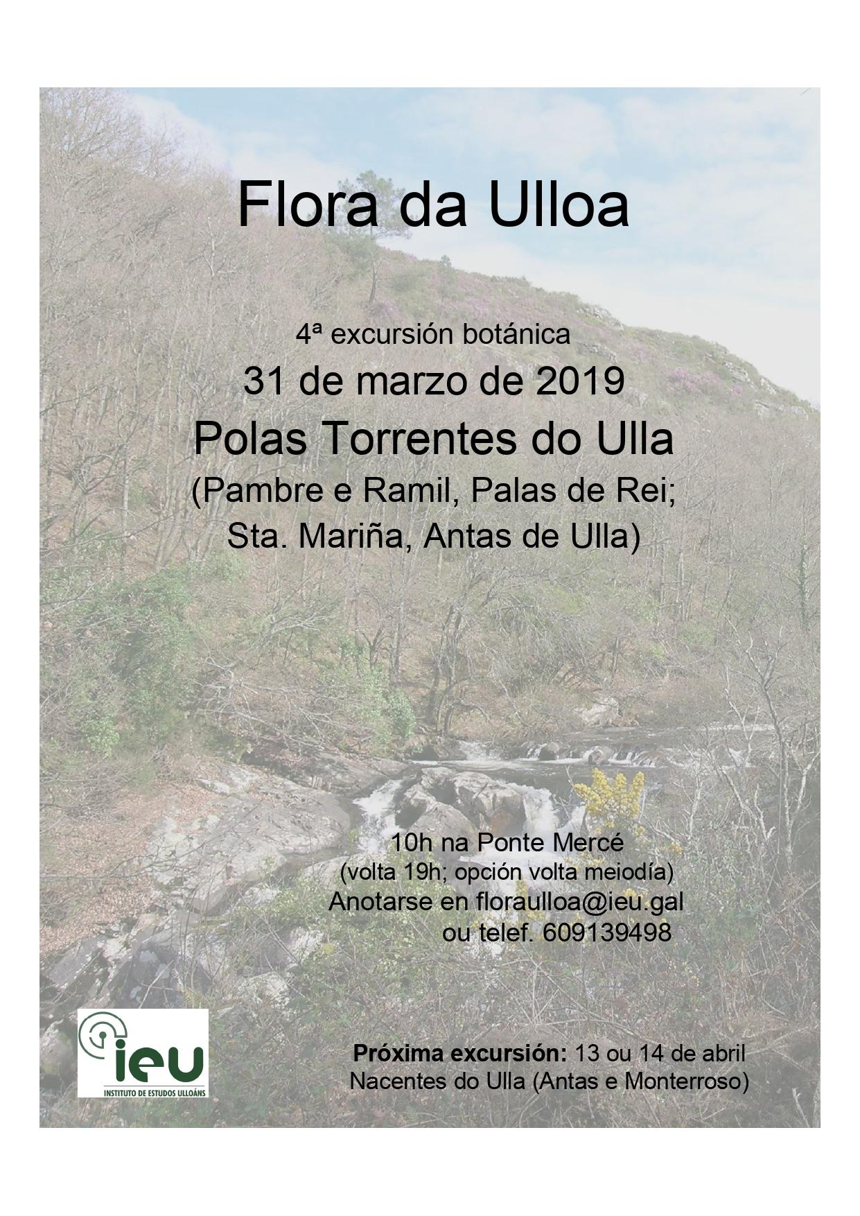 4ª excursión Flora da Ulloa, Instituto de Estudos Ulloáns