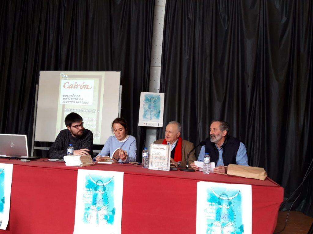 Presentación Cairon n 3, IV Feira do libro de Monterroso, Instituto de Estudos Ulloáns