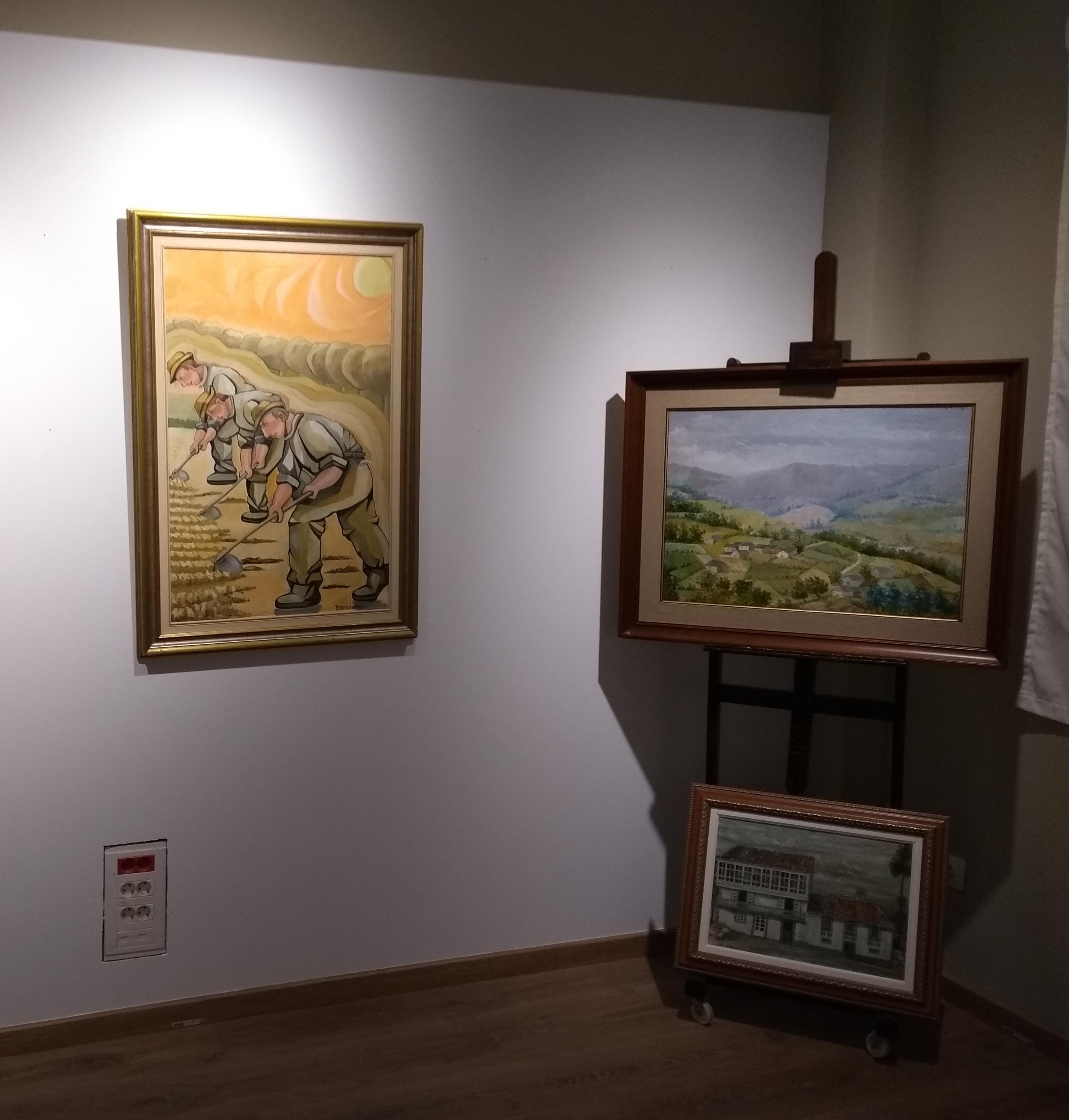 exposición Yebra de Ares, sala do Instituto de estudos Ulloáns