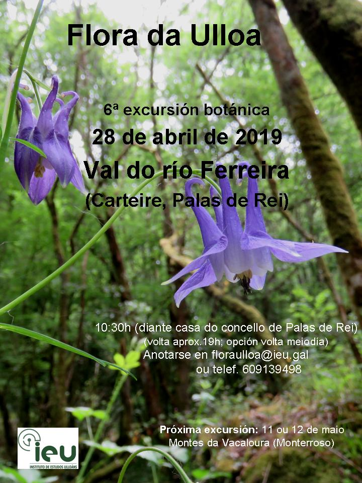 6ªexcursión Flora da Ulloa ao val do río Ferreira, Instituto de Estudos Ulloáns