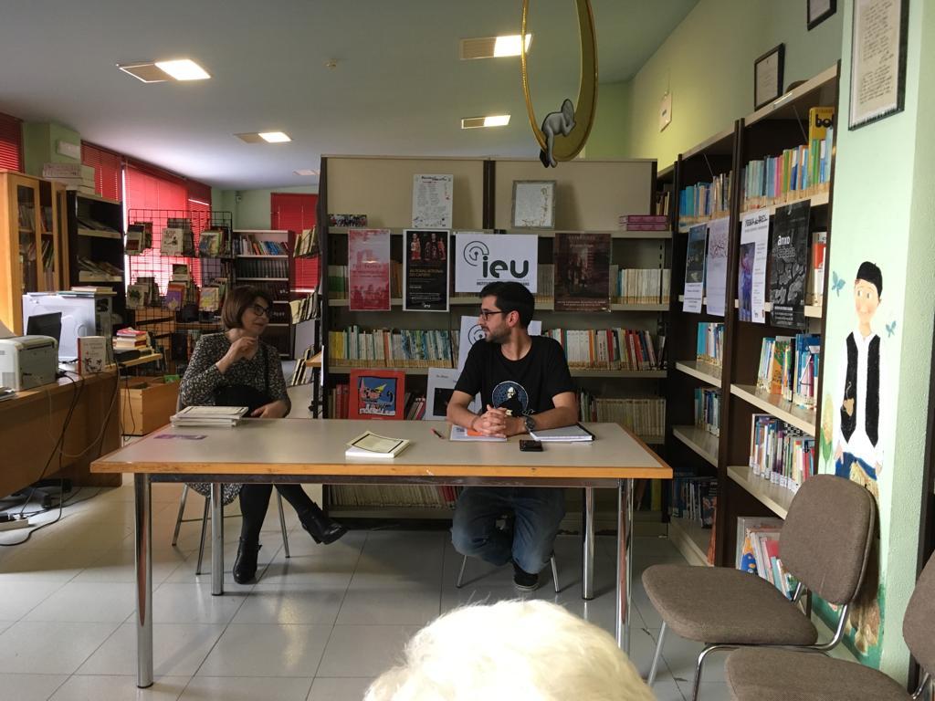 Presentación Cairón na bibliteca publica de Antas de Ulla, Instituto de Estudos Ulloáns