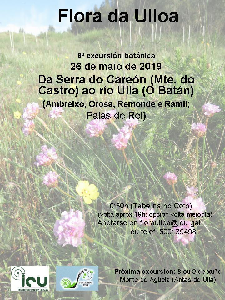 Excursión Botánica Careón-Ulla, Instituto de Estudos Ulloáns, 26 maioi 2019