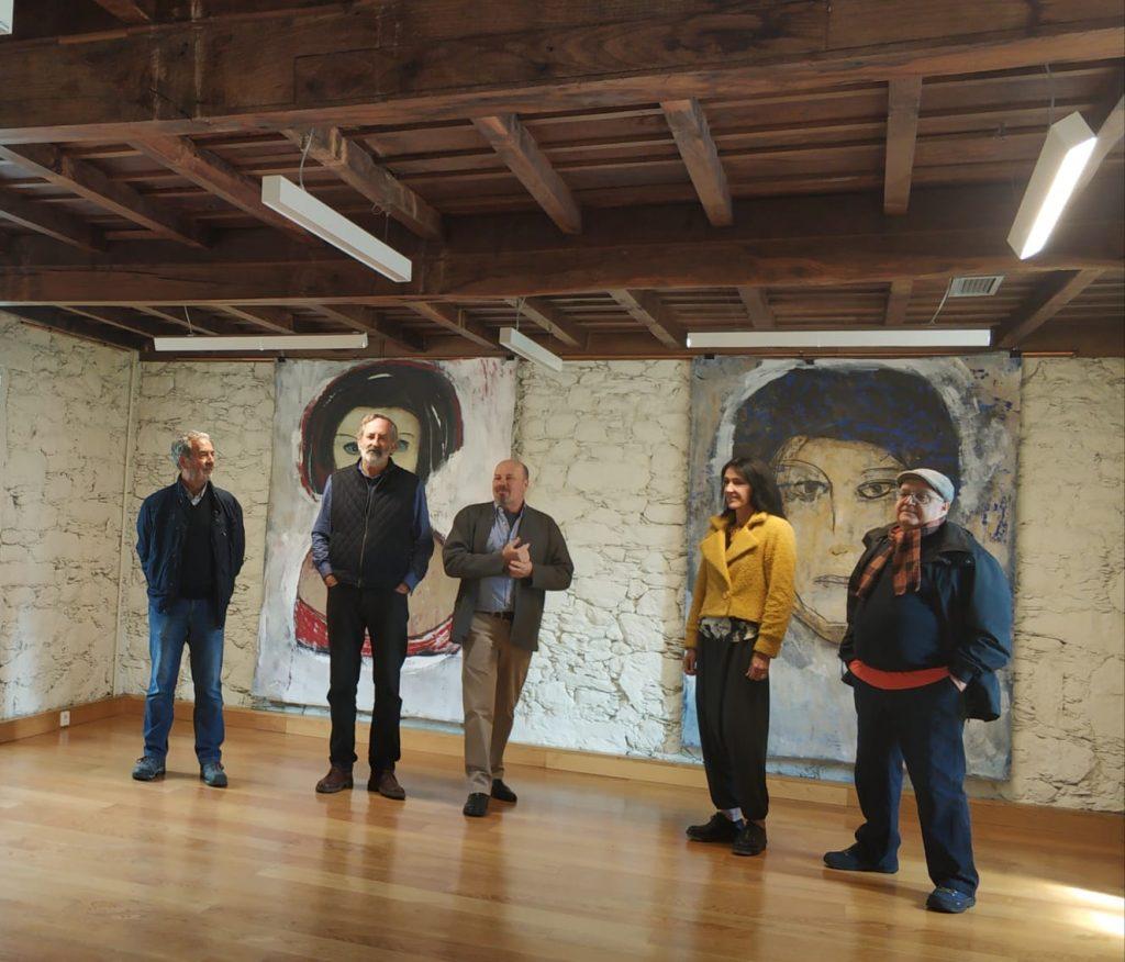 Inauguracion exposición Kelkiss Oliveira, Instituto de Estudos Ulloáns, castelo de Pambre