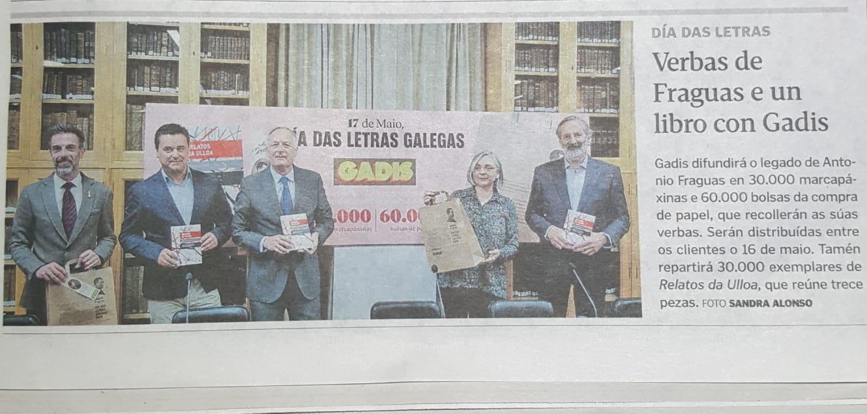 Relatos da Ulloa en La Voz de Galicia 9-5-2919
