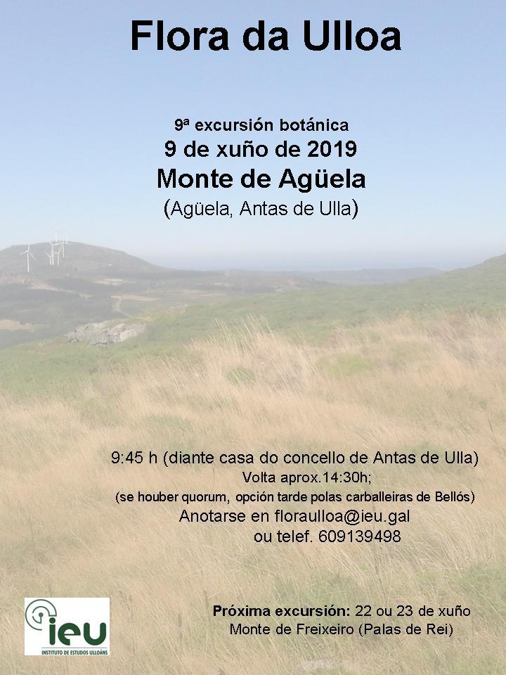9ªexcur.botánica Monte Agüela, Flora da Ulloa, Instituto de Estudos Ulloáns, IEU