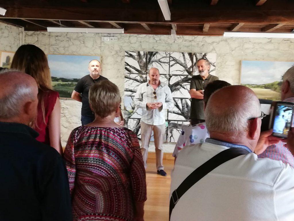 Inauguración exposición J M Méndez, castelo de Pambre, Instituto de Estudos Ulloáns