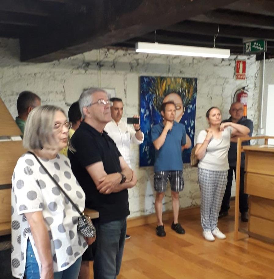 Inauguracion exposición Adolfina Mesa, castelo de Pambre, Instituto de Estudos Ulloáns