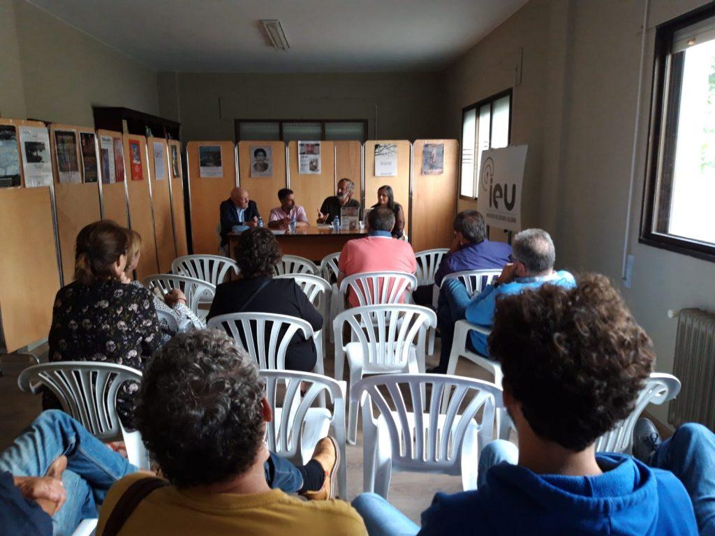 Presentación Á sombra de María Silgar, Carvalho Calero, Xulio Pardo de Neyra, Instituto de Estudos Ulloáns, Monterroso