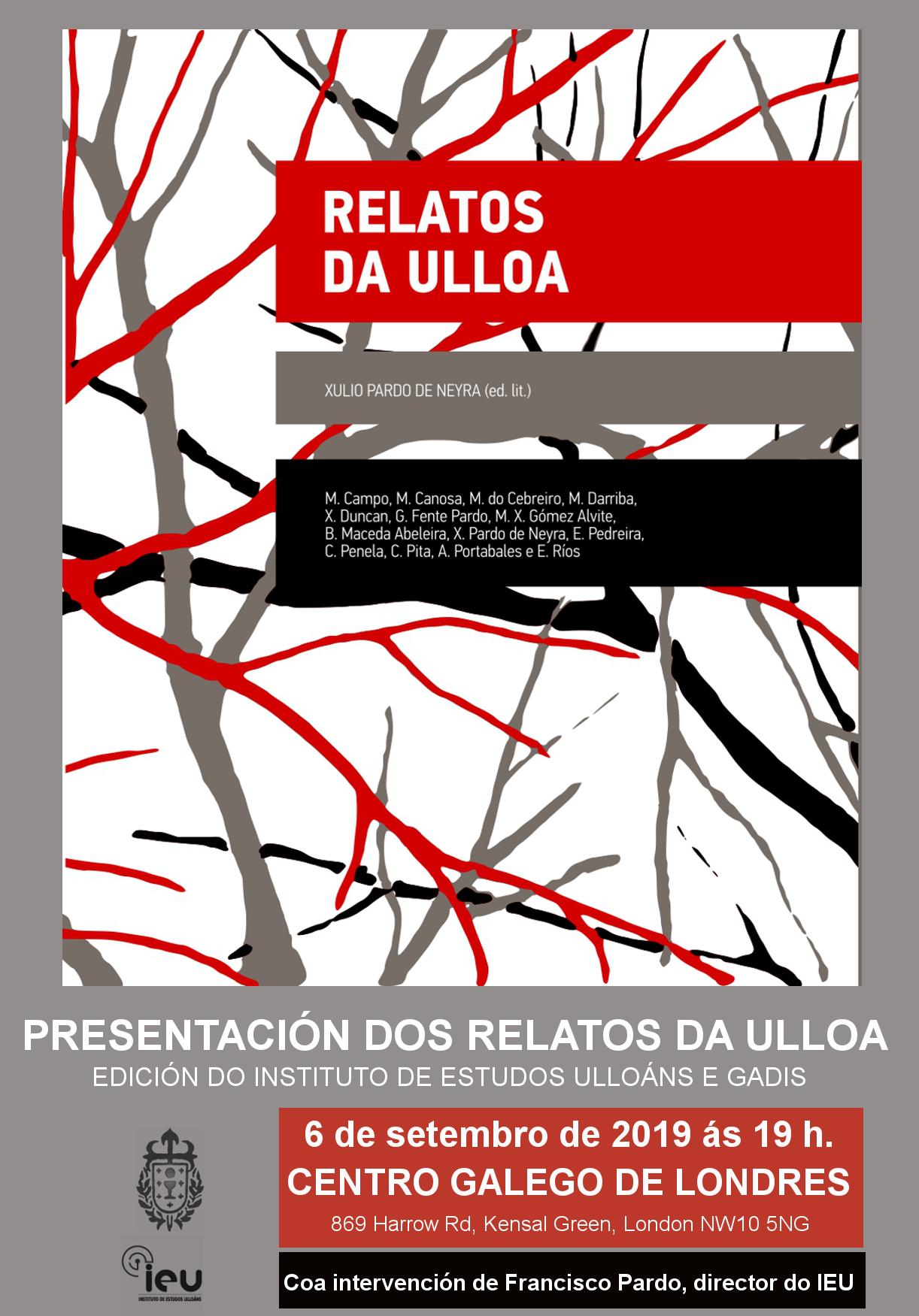 Presentacion Relatos Ulloa no Centro Galego de Londres