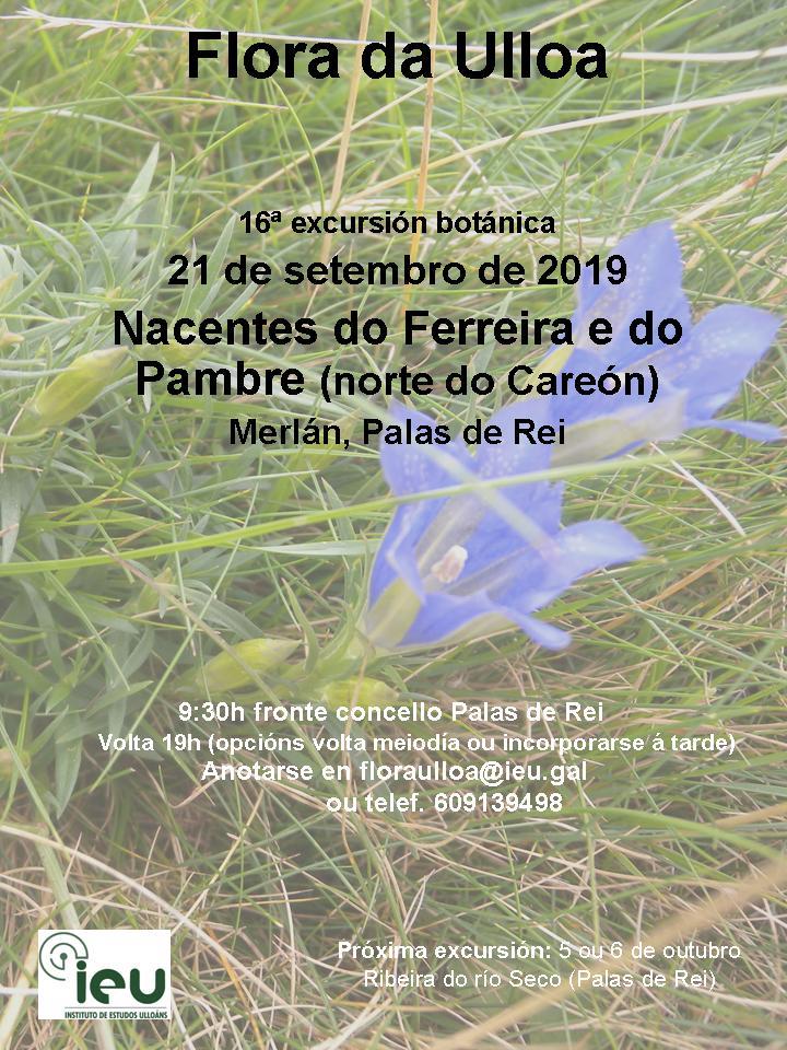 16ª excursión nacentes do Ferreira e do Pambre, Instituto de Estudos Ulloáns IEU, Proxecto Flora da Ulloa