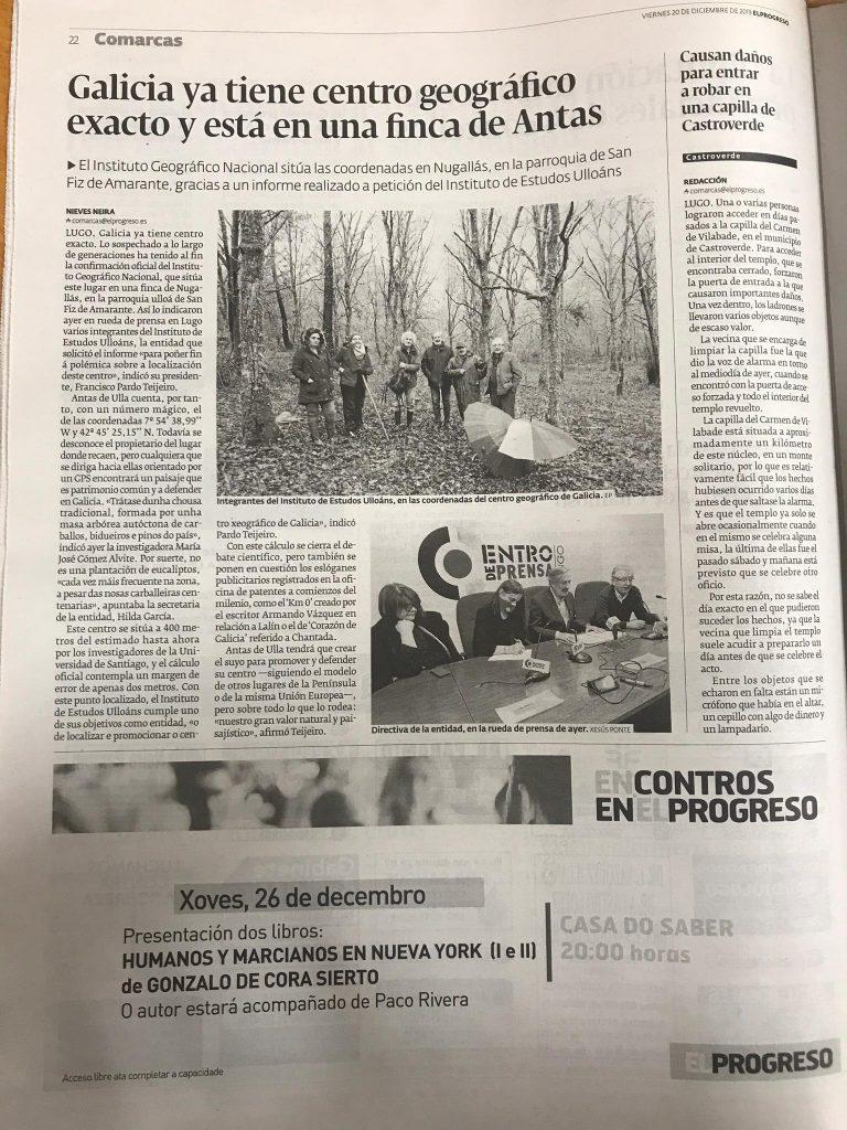 centro xeografico de galicia, El Progreso, Instituto de Estudos Ulloans