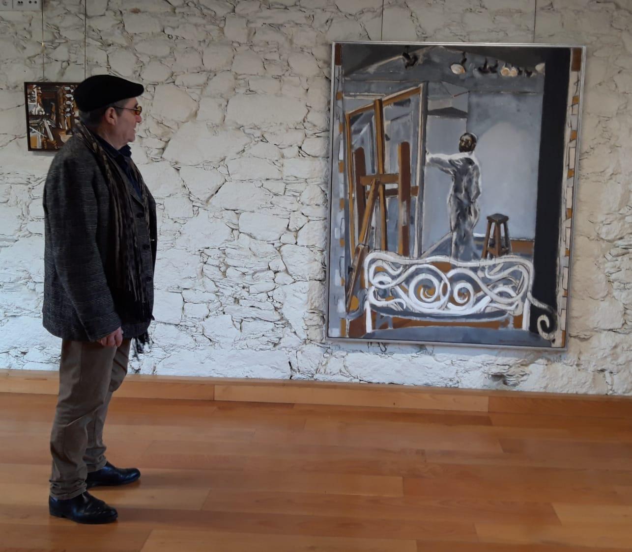 Correa Corredoira, Pintor no Taller, Instituto de Estudos Ulloáns, IEU, castelo de Pambre