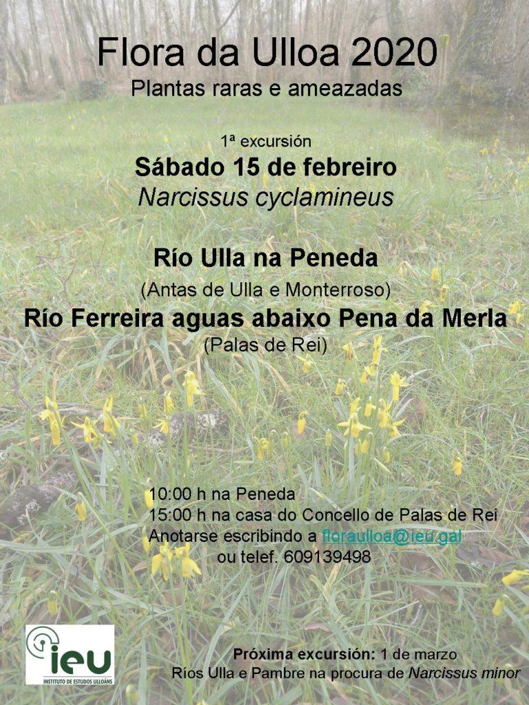 Excursión Flora da Ulloa 01-2020, rios Ulla e Ferreira, Instituto de Estudos Ulloáns