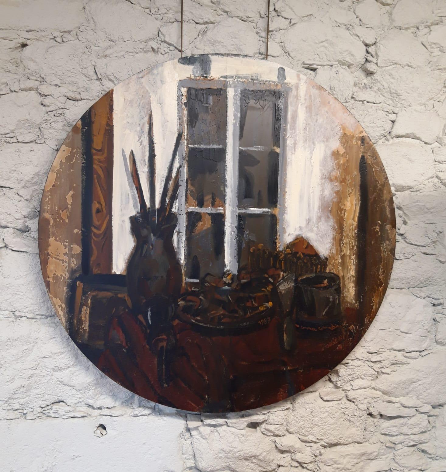 Exposición Correa Corredoira, Pintor no Taller, Instituto de Estudos Ulloáns,castelo de Pambre