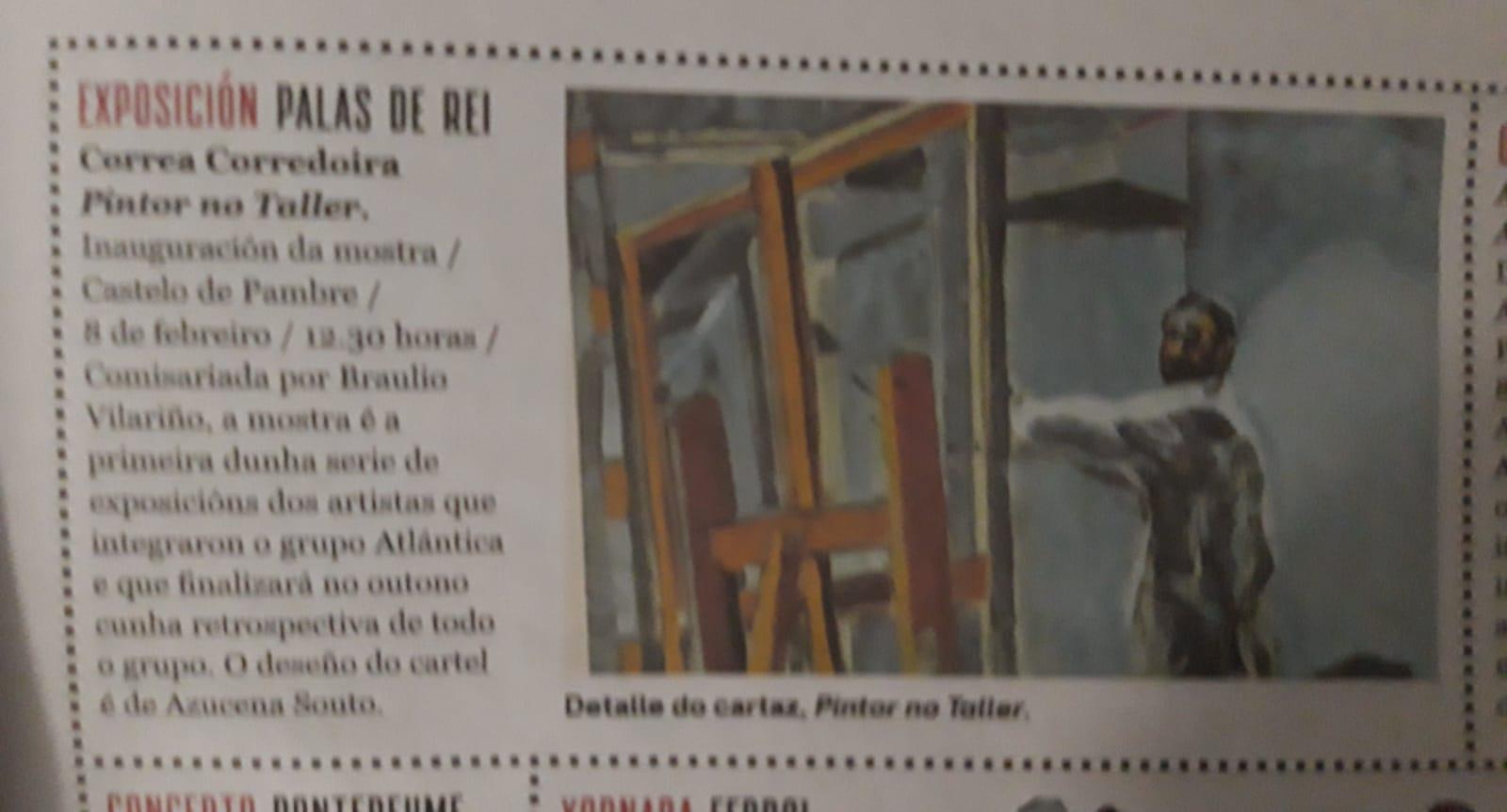 Exposición Correa Corredoira, Pintor no Taller, Nos Diario