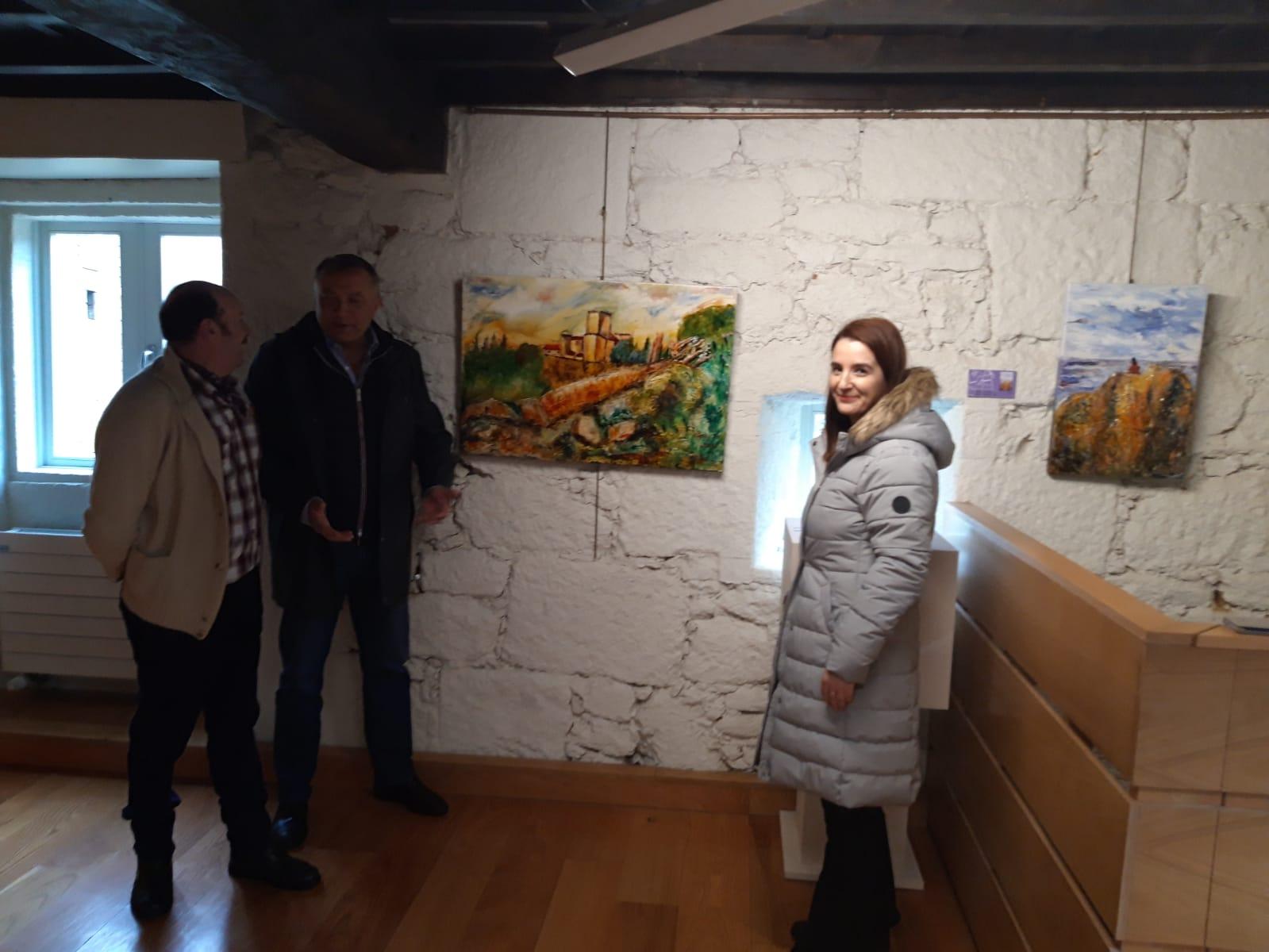 Inauguracion exposicion Semblanza, castelo de Pambre, Instituto Estudos Ulloáns, Palas de Rei