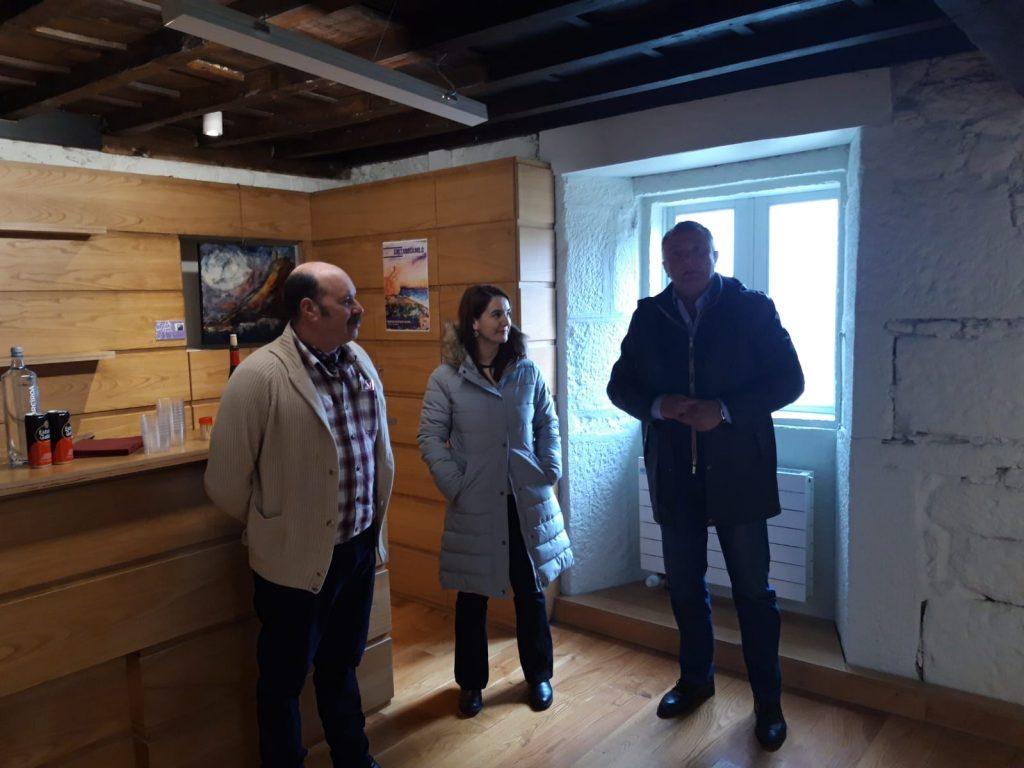 Inauguracion exposicion Semblanza, castelo de Pambre, Instituto de Estudos Ulloáns, IEU