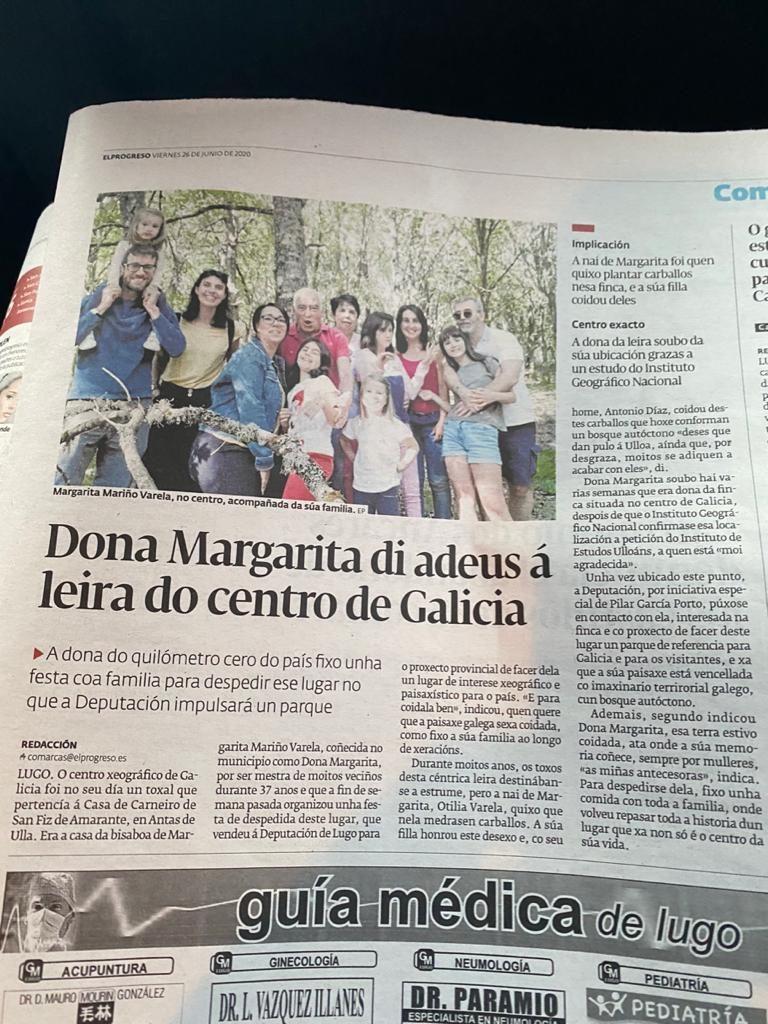 O adeus ao centro xeografico de Galicia