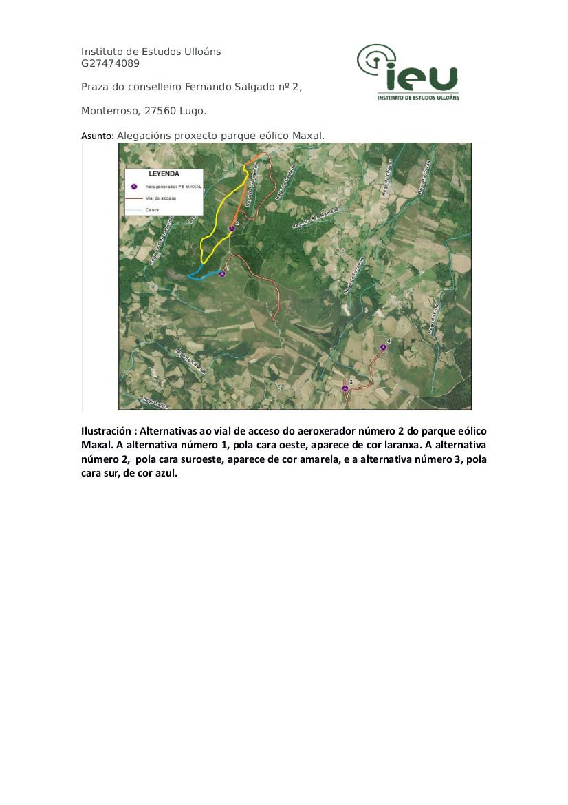 Alegacións do IEU ao proxecto Parque Eólico Maxal(4)