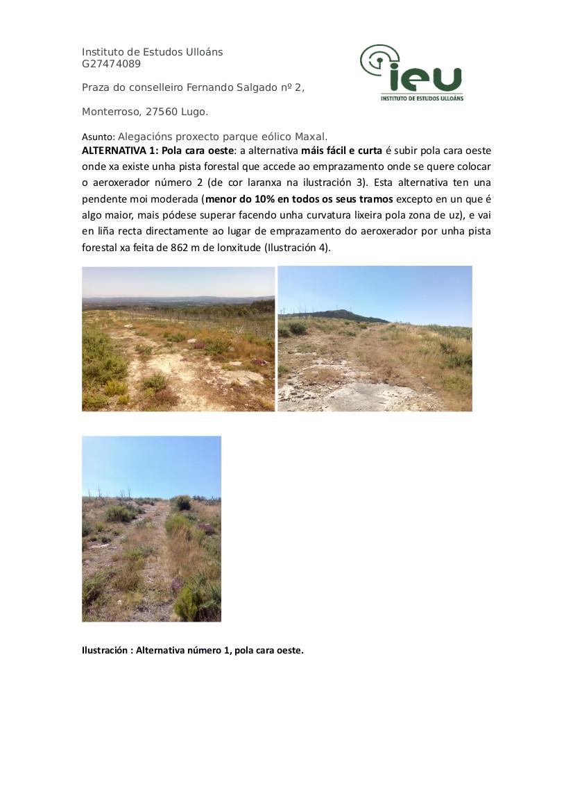 Alegacións do IEU ao proxecto Parque Eólico Maxal(5)
