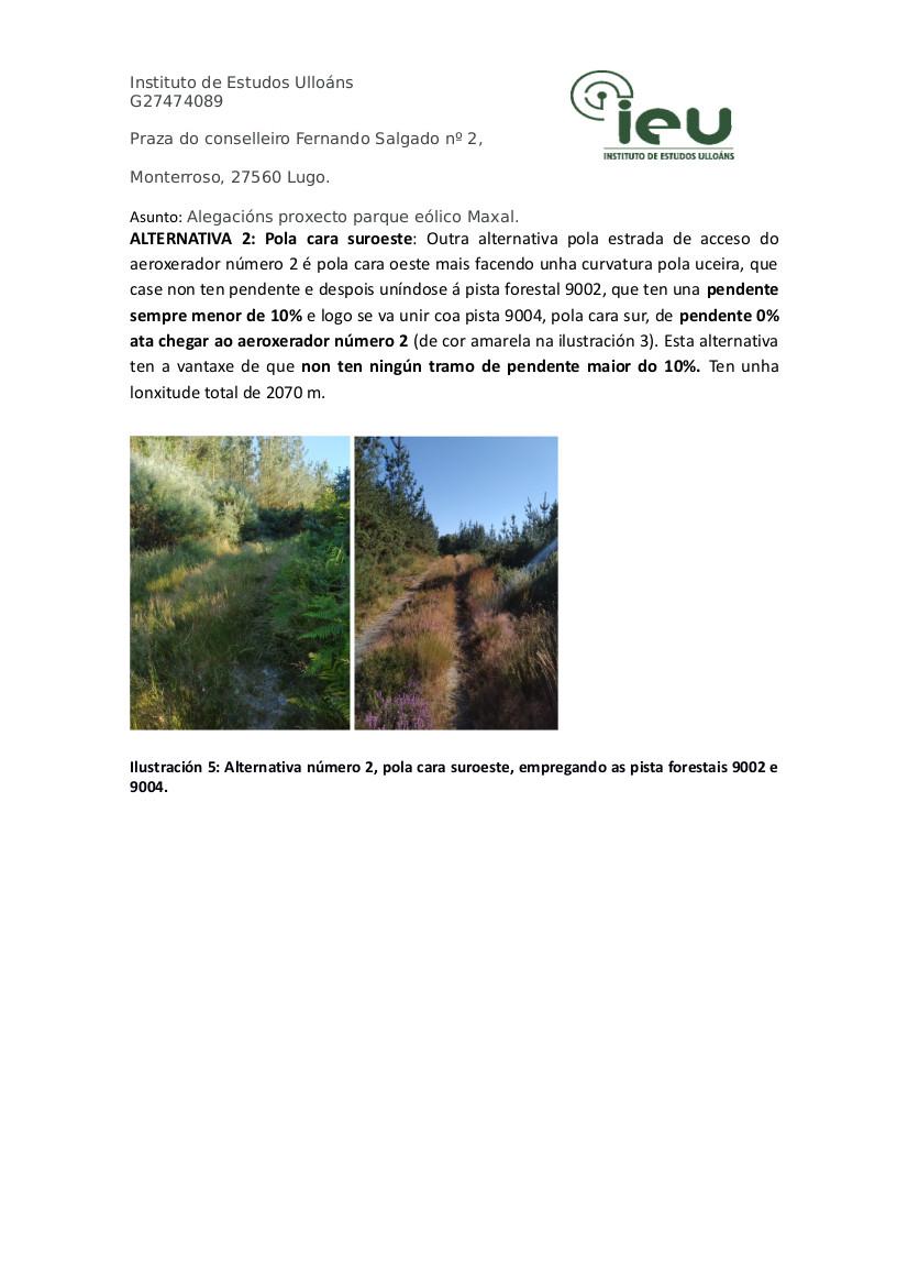 Alegacións do IEU ao proxecto Parque Eólico Maxal(6)