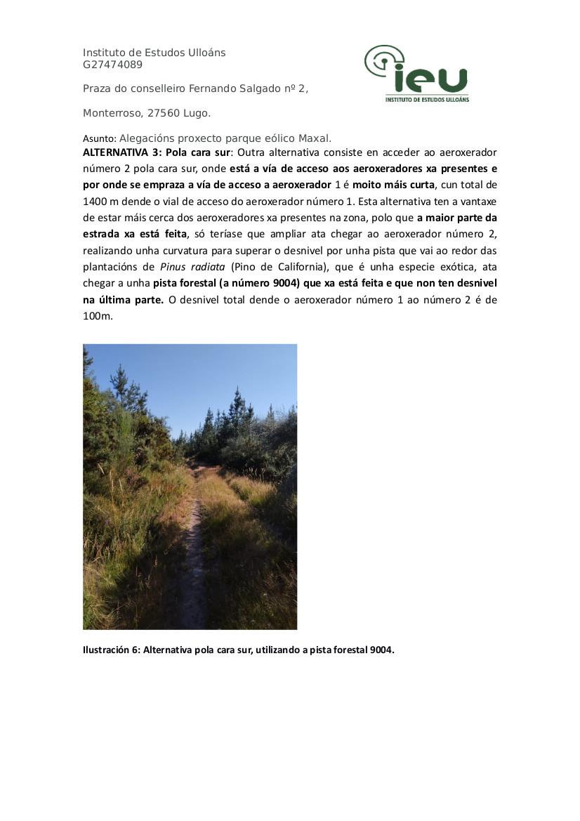 Alegacións do IEU ao proxecto Parque Eólico Maxal(7)