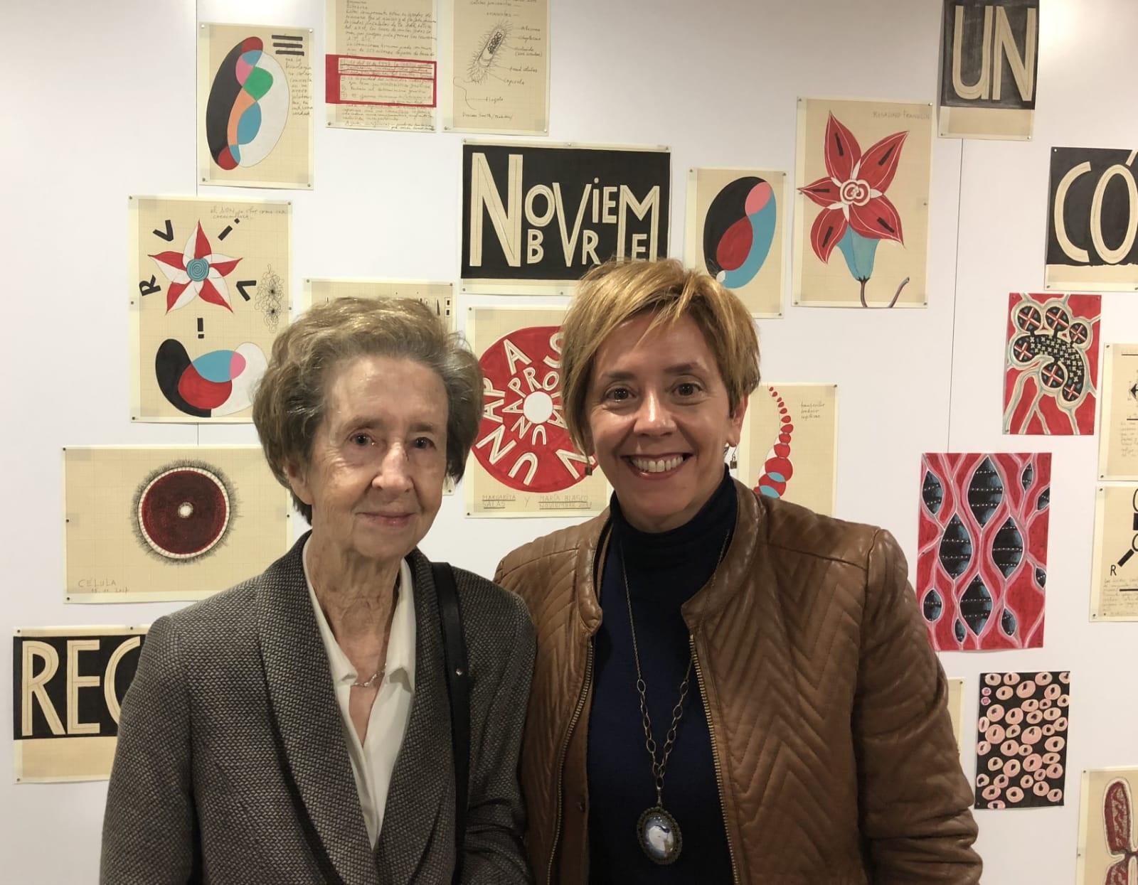 Marisol Soengas con Margarita Salas