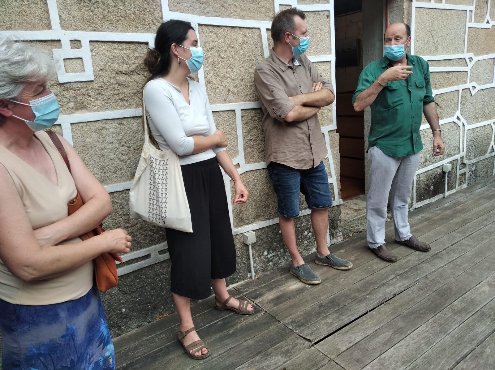 Inauguración Camiños que se pechan, castelo de Pambre, IEU