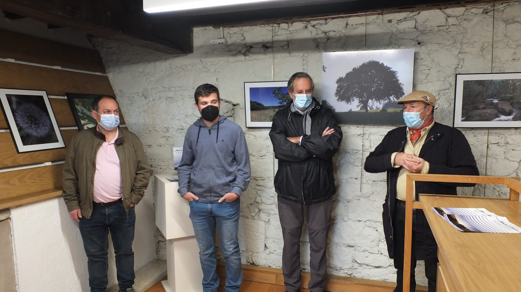 Inauguracion exposición Alberto P García, Instituto de Estudos Ulloáns