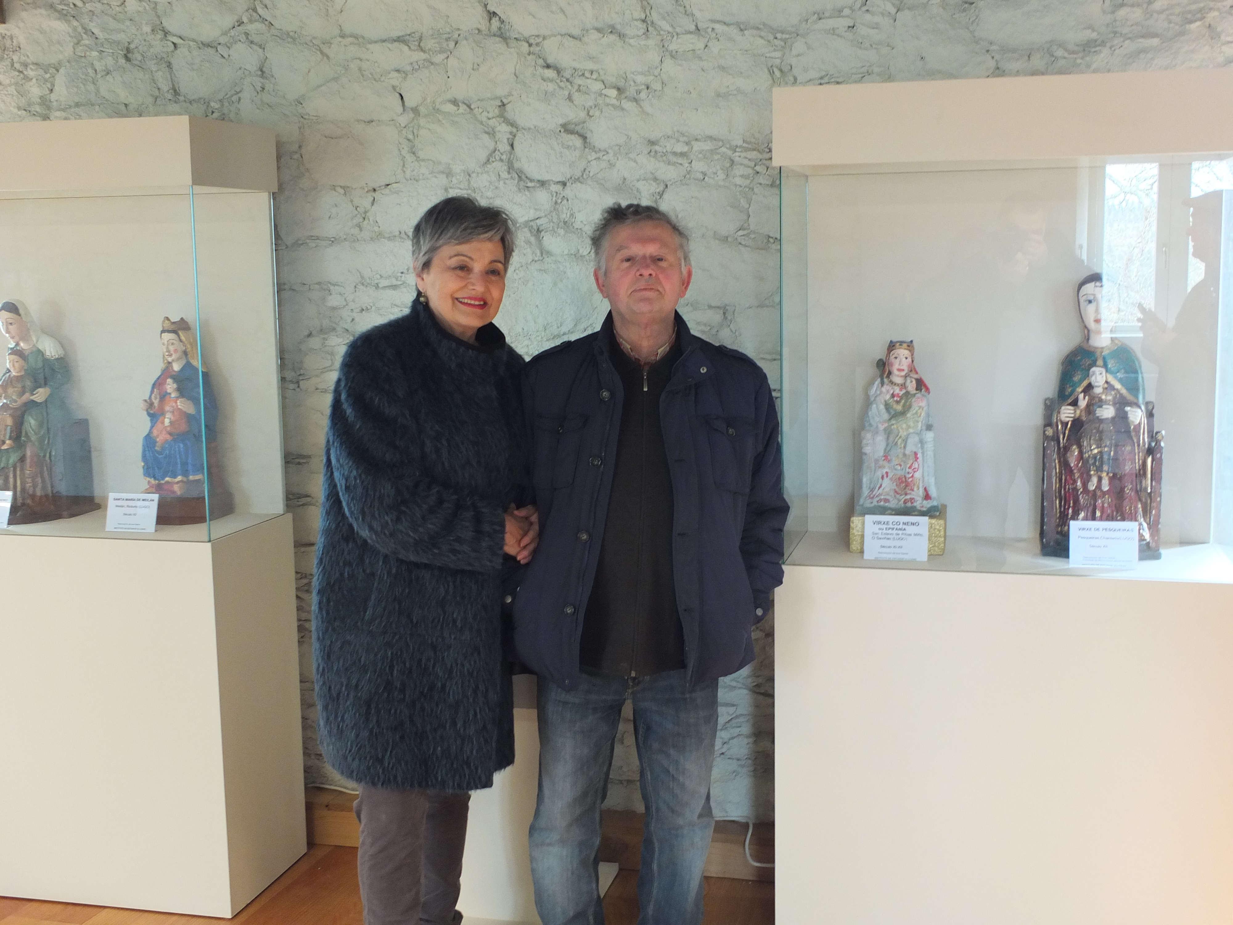 Ana Sastre e Alfonso Blanco na exposición As Nosas Señoras do Camiño