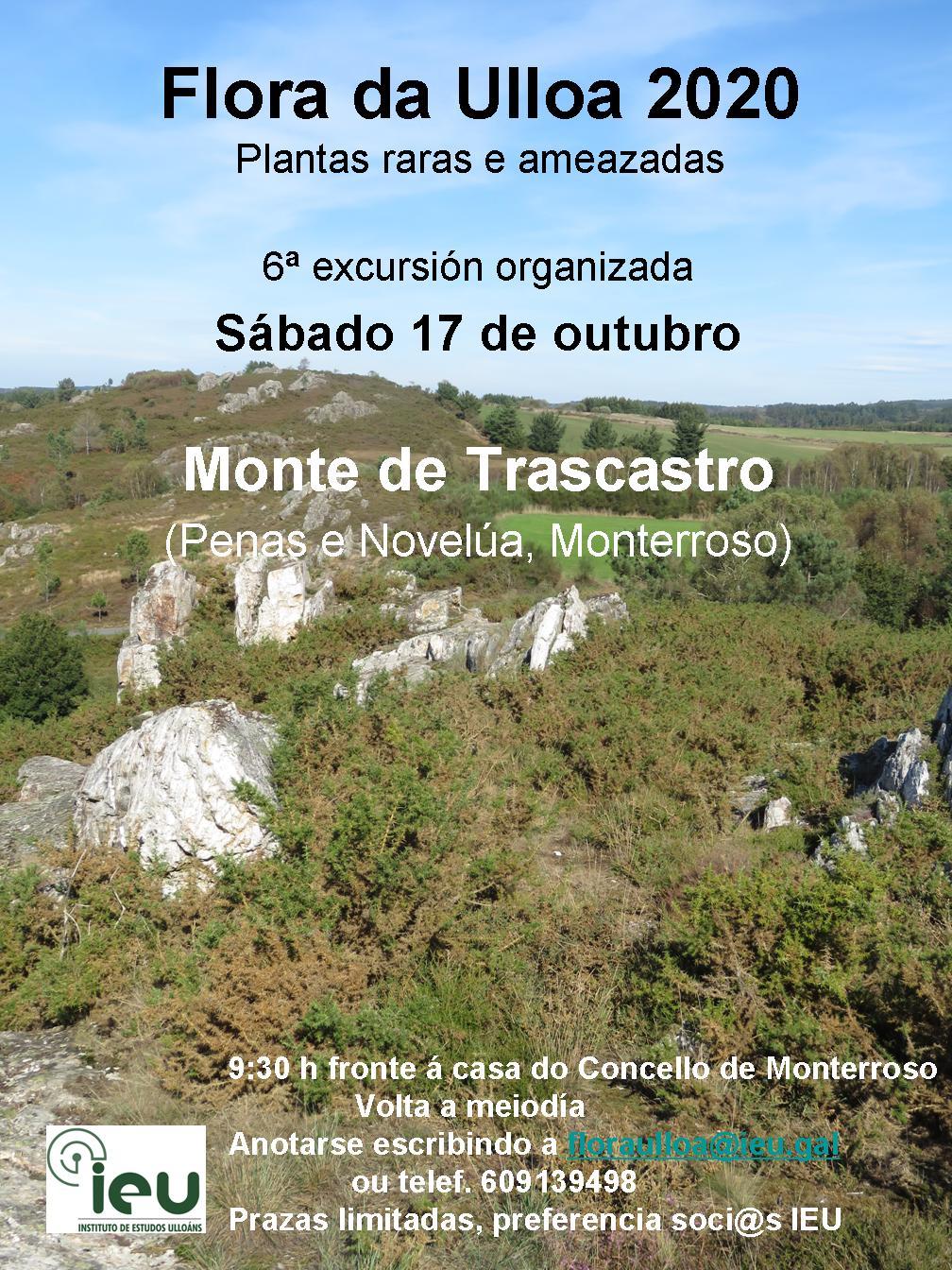 Excursión Flora da Ulloa 06-2020 Trascastro Monterroso, Instituto de Estudos Ulloáns