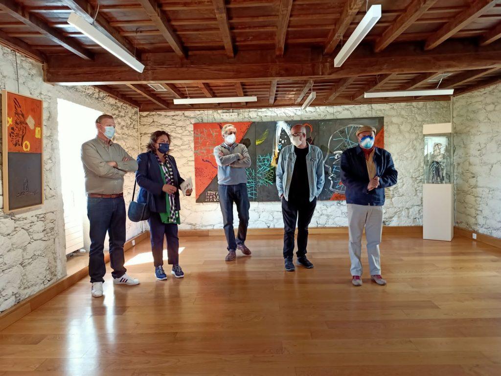 Cartografía simbólica, exposición de Antón Patiño, Castelo de Pambre, Instituto de Estudos Ulloáns