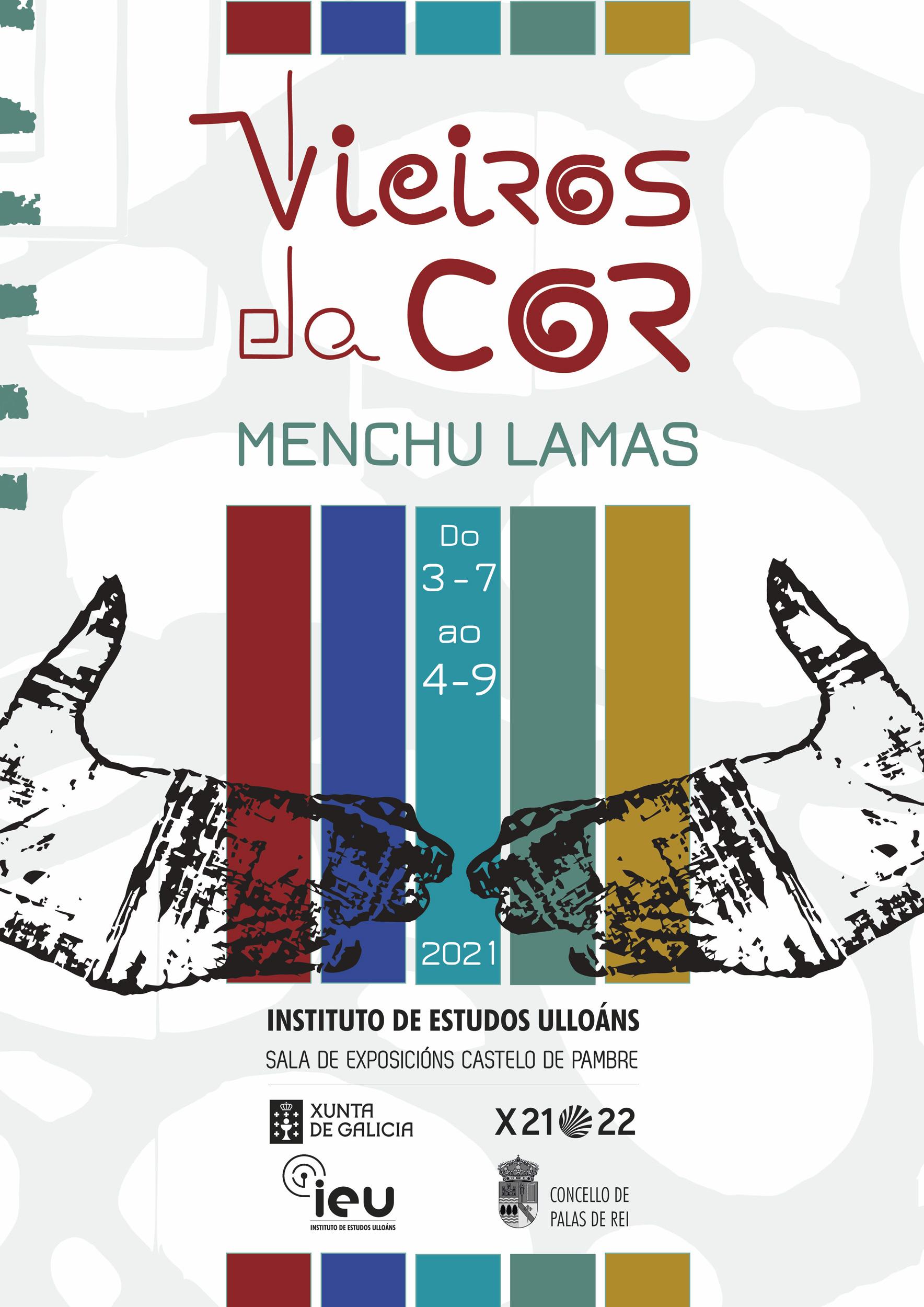Vieiros da cor, Menchu Lamas, Castelo de Pambre, Instituto de Estudos Ulloáns