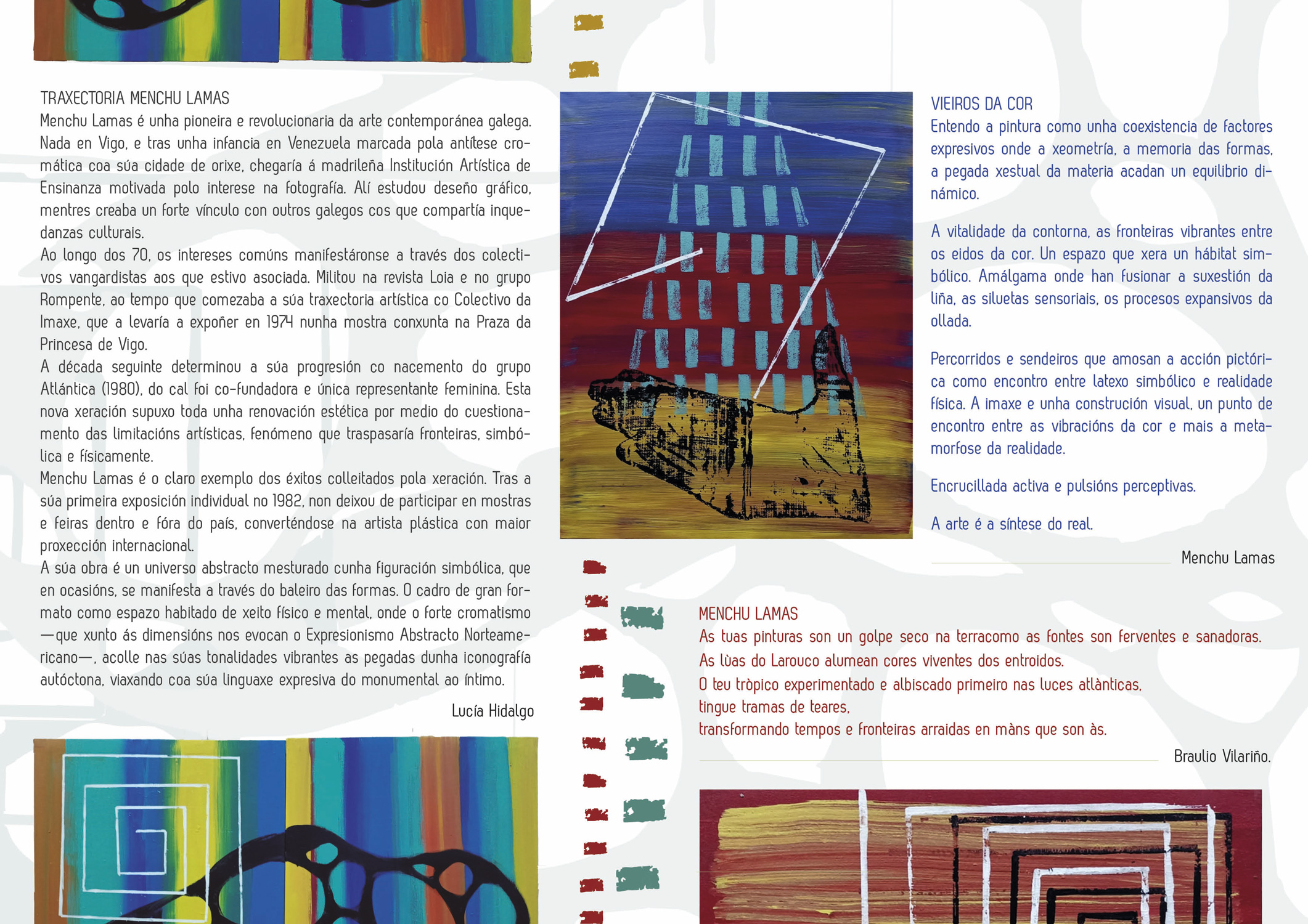 Vieros da cor, Menchu Lamas, castelo de Pambre, Instituto de Estudos Ulloáns, Díptico 2
