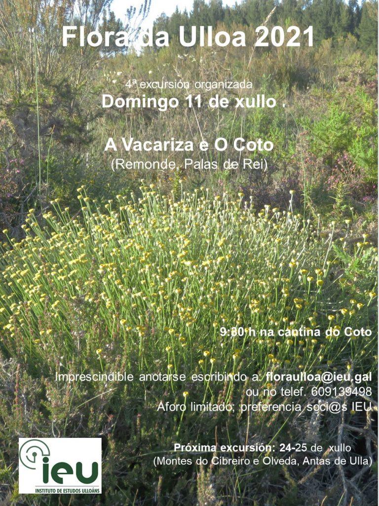Excursión Flora da Ulloa 4-21, A Vacariza e O Coto, Instituto de Estudos Ulloáns (11-7-2021)