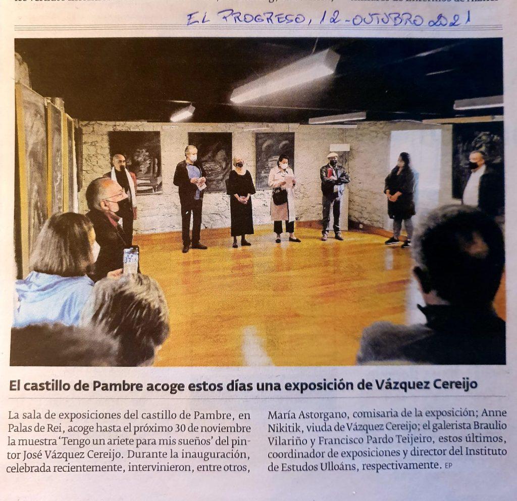 Exposición de Vazquez Cereijo en El Progreso (12-10-2021)