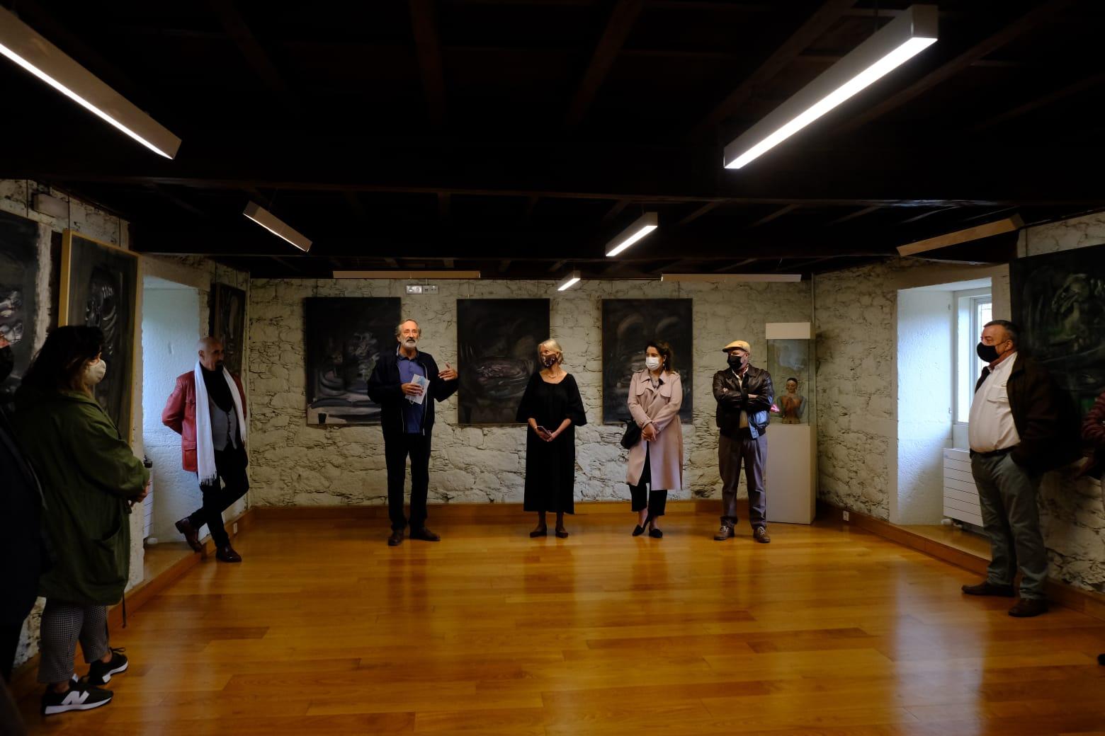 Inauguración exposición de Vazquez Cereijo, castelo de Pambre, Instituto de Estudos Ulloáns